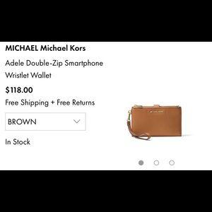Michael Kors Bags - Michael Kors Wristlet